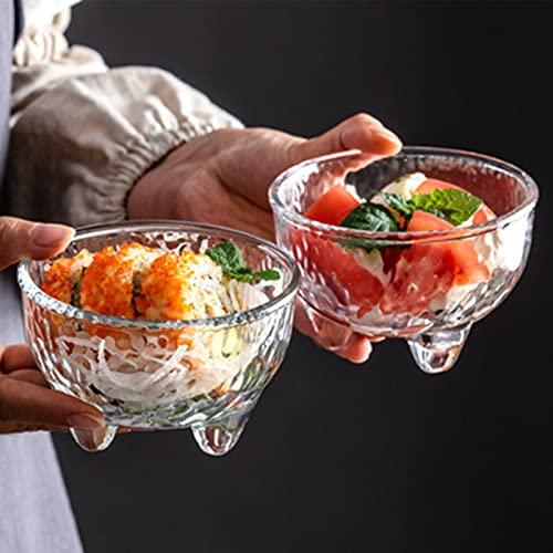 Pequeños cuencos de vidrio, mini vaso de helado de cristal taza, taza de yogur, taza de vidrio de la creatividad dos