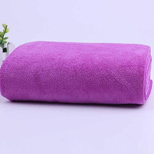 IAMZHL Salón de Belleza Toalla de baño y Toalla Facial Masaje Secado rápido Especial Toalla Grande Microfibra Gruesa Absorbente Toallas de Vapor suave-purple1-35x75cm and 70x140cm