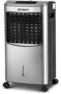 Devanti Evaporative Portable Air Conditioner Cooler Fan Humidifier with Touch Panel and Remote