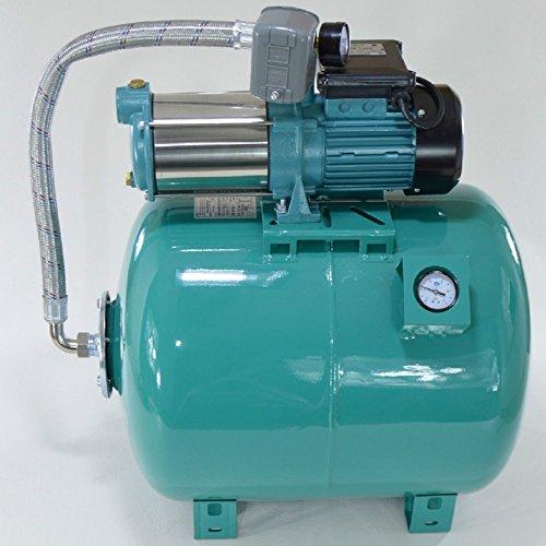 Hauswasserwerk 80 L Membrankessel Manometer, Pumpe 1300W INOX mit Druckschalter