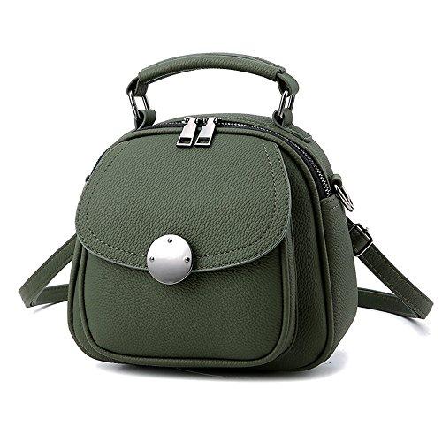 Mini Grüner Rucksack Phone Rucksäcke PU Leder Backpack Handtasche Für Frauen Mädchen...