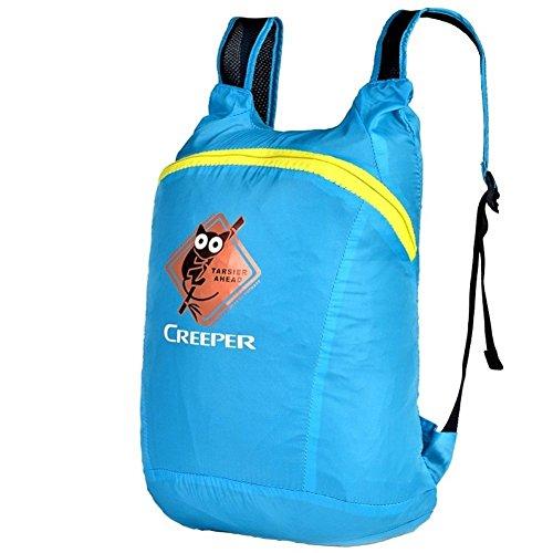 Backpack éclairage léger Sac à bandoulière/Pliante Fixation Sac d'alpinisme/Petit Sac à Dos d'équitation/Sac Skin-Blue 20L