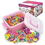 Regalo per ragazze di 5 6 7 8 anni Kid, Pop Snap Beads Girls Toys Età 4 5 6 7 8 Toddlers Girl Birthday Regalo di Natale Kit per la creazione di gioielli fai da te per bracciali Collana Ragazze Fascia