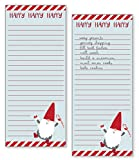 Gina B Designs Set of 2- Gnome Holiday List Pad, Notepad, Shopping List with Attachable Magnet