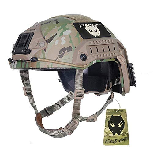 ATAIRSOFT Adjustable Maritime Helmet ABS Multicam MC for Airsoft Paintball (M)