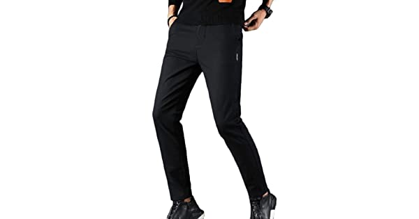 DressUMen Stretch Plus Size Silm Pure Colour Elastic Bottom Pants