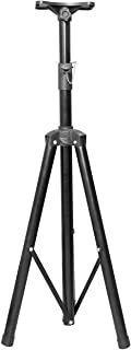 Tripod Speaker Stand(Pro) - Moclever Professional Tripod Structure(Heavy Duty) Holds Up to 60KG/132LBS-4 Adjustable Heights from 3.34ft to 5.02ft DJ PA Speaker Stand-Easy Storage (Non Slip)-Black
