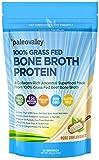 Paleovalley: 100% Grass Fed Bone Broth Protein Powder - Collagen-Rich Ancestral Superfood - 30 Servings - 15g Protein Per Serving - 100% Grass Fed Beef - No Gluten or GMO