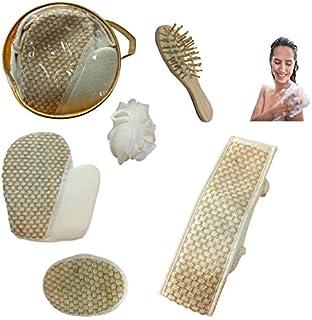 5 in 1 Shower and Bath Scrub Sponge Set 5 مجموعة استحمام 5 قطع