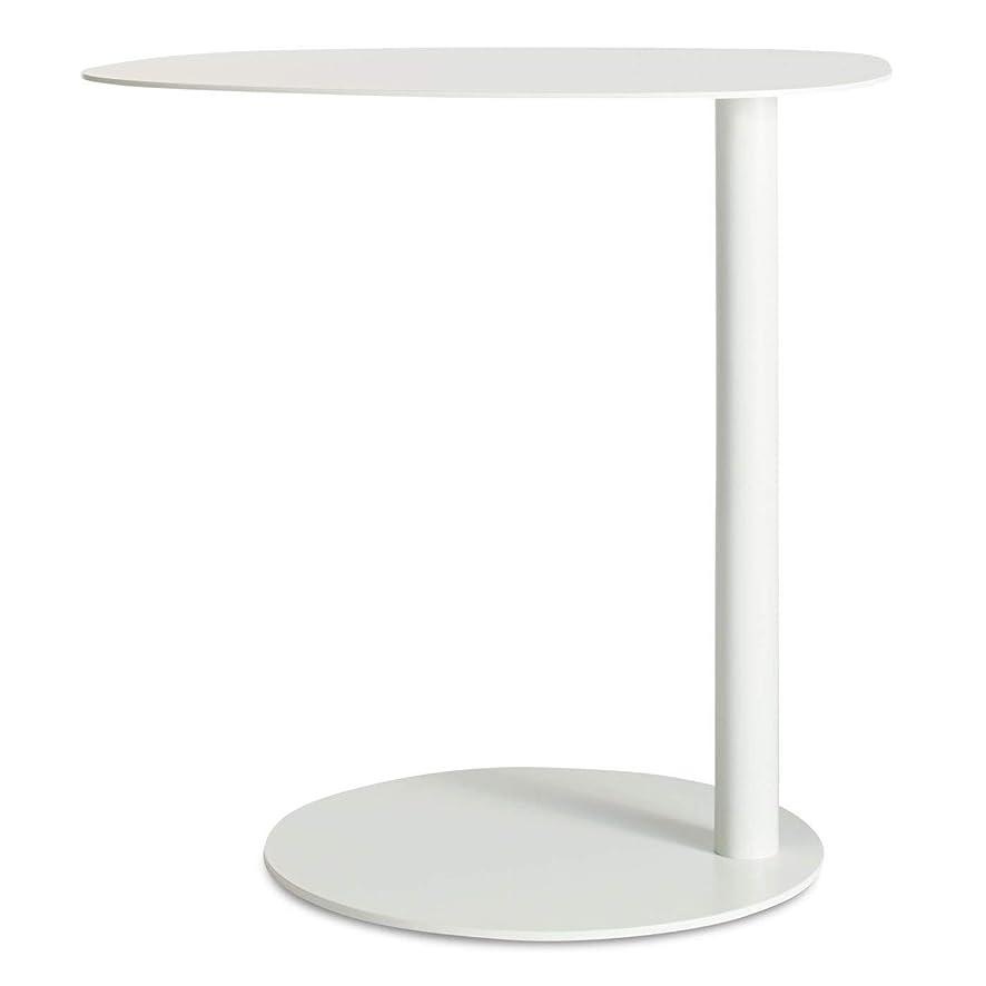 崩壊過敏なコックGWM コーヒーテーブル、ラップトップゲームテーブルモダンなコーヒーティーデスクオフィス家具、北欧サイドベッドルームシンプルソファコーナーベッドサイドテーブルサイドテーブルモバイルメタル錬鉄ライト高級小さなコーヒーテーブルサイド (Color : White)