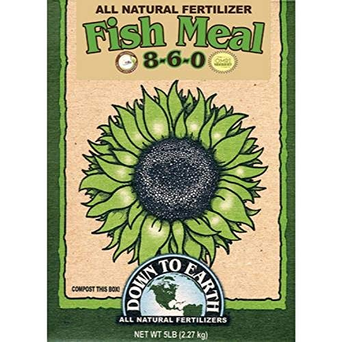 Down to Earth Organic Fish Meal Fertilizer 8-6-0, 5 lb