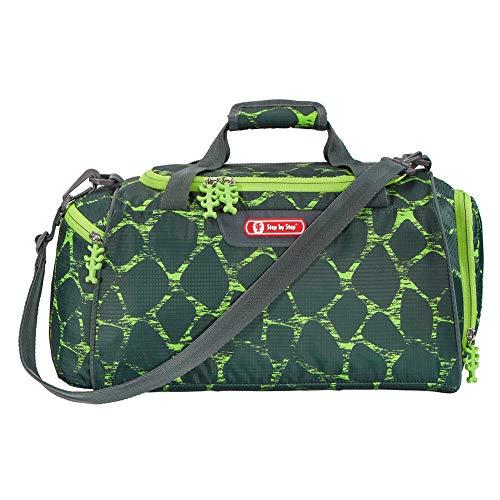 """Step by Step Sporttasche """"Dino Life"""", schwarz-grün, mit Nasswäschefach, Abnehmbarer Tragegurt, Verstellbarer Schultergurt, für Jungen 1. Klasse, 13L"""