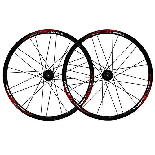 ZNND Ruedas De Bicicleta MTB 26' Delantera Trasera Aleación Llanta Doble Pared 7 8 9 Velocidad Liberación Rápida Freno Disco 24 Agujeros (Color : A)