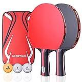 Easy-Room Raquette de Ping-Pong , 2 Raquette de Tennis...