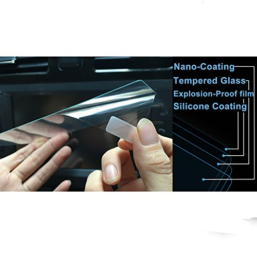 2PCS LFOTPP Q50 Q60 2014-2020 8-Inch Touch Car Navigation Clear and Bottom Touch Screen Protector Combined Package, Tempered Glass Screen Protector Anti Scratch High Clarity