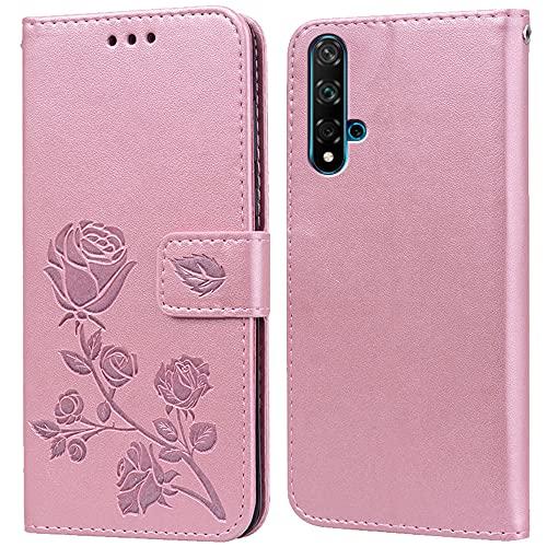 Hülle für Huawei Honor 20/Nova 5T,Handyhülle für Huawei Nova 5T,Klappbar Tasche Hülle,Standfunktion,Kartenfach,Silikon Bumper,Stoßfeste Schutzhülle Cover für Huawei Honor 20(6.26