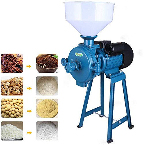 DONNGYZ Mill Grinder,110V 1500W Electric Grain Dry Feed Flour Milling Machine Cereals Grinder,Suitable for Rice Corn Grain Coffee Wheat with Funnel