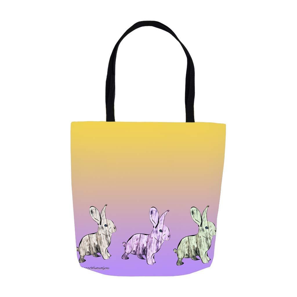 WhatnotGems Beadboard Bunny Purple Tote 3483 inch 16x16 Regular Max 43% OFF store Bag