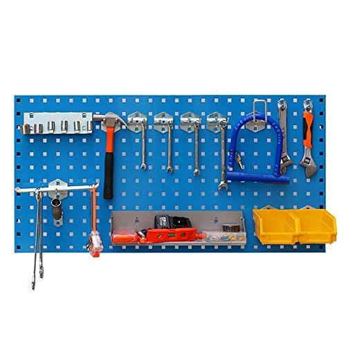 Asffdhley Pegboard Garage Wall Tool Rack Storage Tools Organizer Home Shelves For Home Shed Workshop Or Garage for Home, Shed, Workshop or Garage (Color : Blue, Size : 60x40x0.1cm)