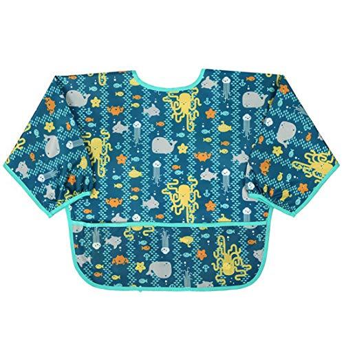 Lätzchen mit Ärmeln, wasserdicht, langärmelig, Unisex, für Kleinkinder, 1 bis 5 Jahre, nicht null, D, M