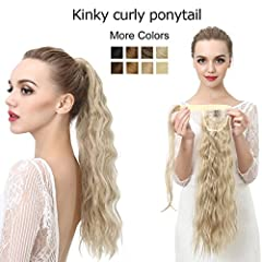 "Material:100% Japan Heat Resistant Synthetic Fiber (can be ironed between 300℉-350℉) Color: As Shown in Picture (May Vary by Monitor) Length: Approx 24""(when it curl ); Weight: About 0.22lb Can be Permed, Heated by iron ,Washed, Restyled or Shorn Pon..."