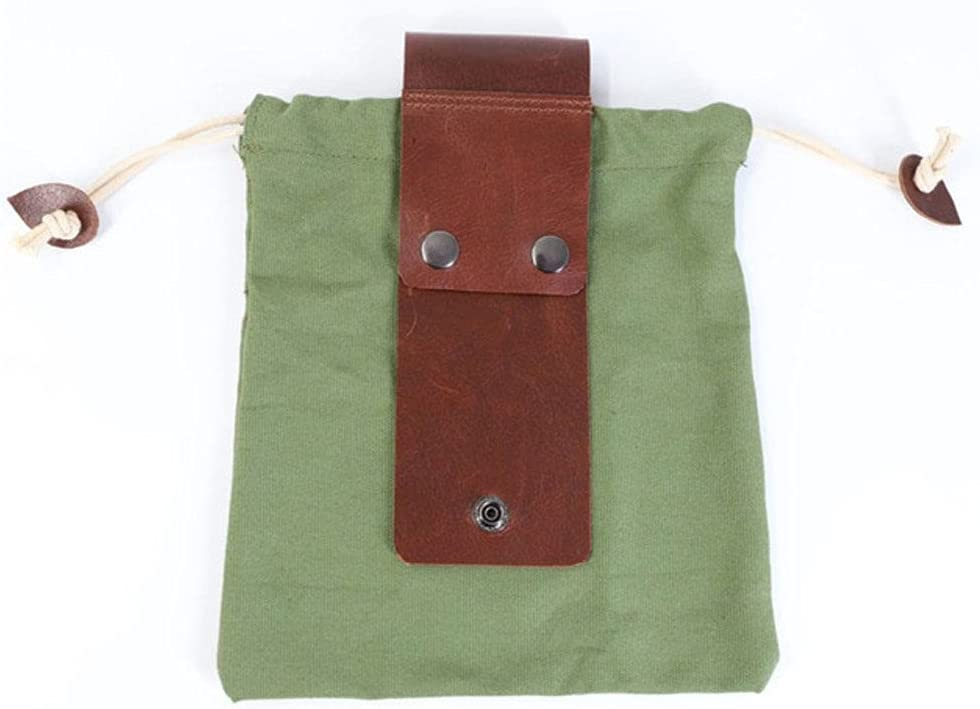 WUIMA Leather Canvas Our shop most popular Bushcraft Bag Max 48% OFF Camping Picking Outdoor Fruit