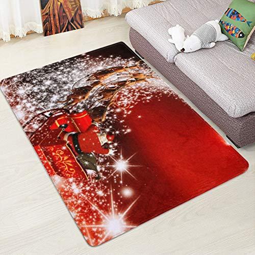 HongFüFü Feliz Navidad felpudos de bienvenida para interiores y hogares, decoración de 40 x 120 cm, decoración de Navidad