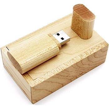 Memoria flash USB de madera, de Beken, incluye caja de madera (8.0 ...