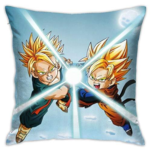 Funda de almohada CVDGSAD Dragon Ball Z Anime Boy Anime 18' x 18' Funda de cojín decorativa para el hogar