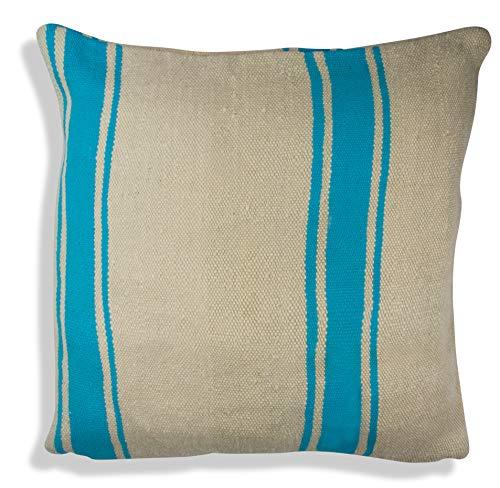 Pous&Pillows Berber Afrikaanse Kussensloop - Handgemaakt - Vierkant Kussen wol en katoen 45x45 cm