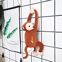 Cute Plush Monkey Tissue Kleenex Storage Animal Cartoon Storage Car Home Gift