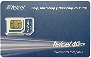 Telcel Mexico Prepaid SIM Card with 6.5GB Data and Unlimited Calls SMS Universal SIM