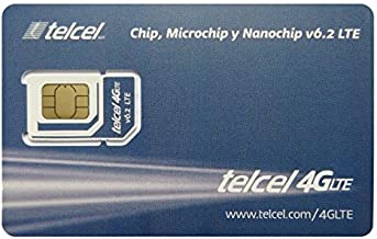 Telcel Mexico Prepaid SIM Card with 5GB Data Universal SIM