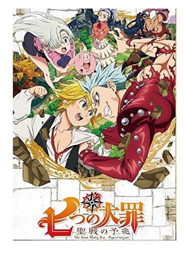 xuyuandass Los Siete Pecados Capitales De Umeda Anime Manga Pintura De Pared Sin Marco 50x60Cm K2180