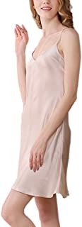 (MAYUDAMAシルク) ゴージャス 厚手 シルク スリップ 絹100% インナー キャミソール ネグリジェ レディース シンプル ベーシック 選べるサイズ?カラー