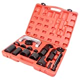 GZYF Heavy Duty Ball Joint Service Tool Kit for 2WD and 4-Wheel Drive Car Repair Remover Installer Universal U-Joint Puller C-Clamp (21PCS)