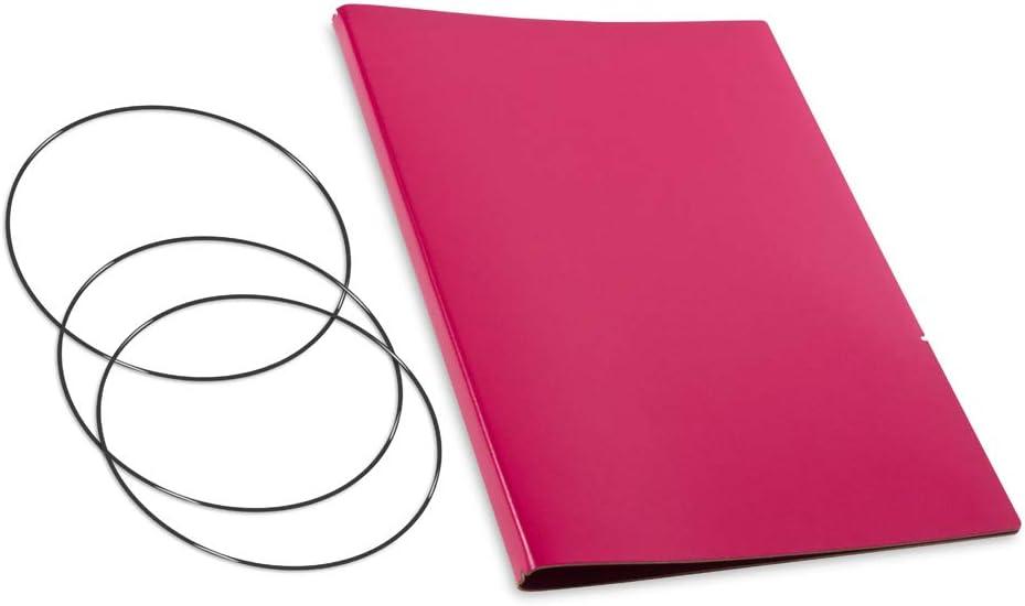 Italienisches Leder glatt rot A4+ nachhaltiges X17-Konzept f/ür Notizbuch Personal Organizer und Terminplaner//H/ülle f/ür 2 Hefte Made in Germany 17 Jahre Garantie* revolution/äres
