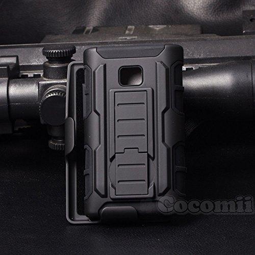 Cocomii Robot Armor LG Optimus L3 Funda Nuevo [Robusto] Superior Funda Clip para Cinturón Soporte Antichoque Caja [Militar Defensor] Cuerpo Completo Sólido Case Carcasa for LG Optimus L3 (R.Black)