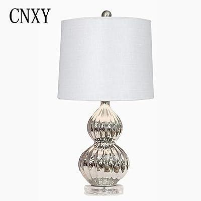 Design Nachttischleuchten mit Stoffschirm /& Holzfuß Tischlampen fürs Wohnzimmer