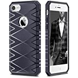 iSPECLE 7C0503 iPhone 7 Case Bumper Shock Absorption Carbon Fiber Design on Case Surface TPU Ca…