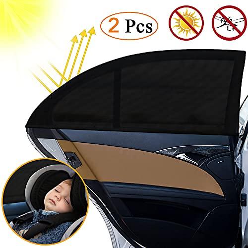 otumixx Sonnenschutz Auto, 2 Stück Sonnenschutz Auto Baby mit UV Schutz Universal Sonnenblende Auto für Schützt Mitfahrer, Baby, Kinder & Haustiere 113 x 51cm