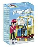 PLAYMOBIL Hotel - Portero con Carro de Equipaje, Set de Juego, 10 x 5 x 15 cm, (5270)