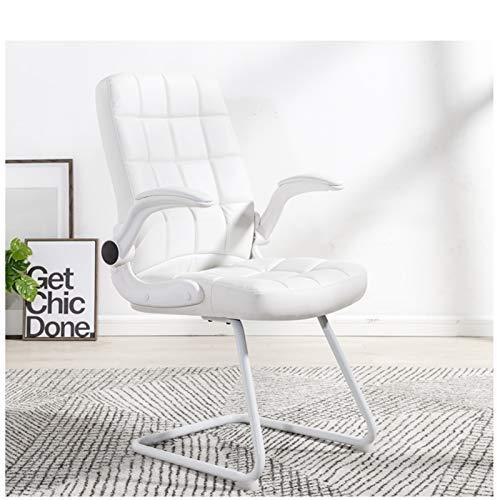 Silla de oficina para ordenador, silla de oficina, silla con lazo, silla para estudiante, chair casa de estudio, Dormitorio, Bow diseño más estable, blanco