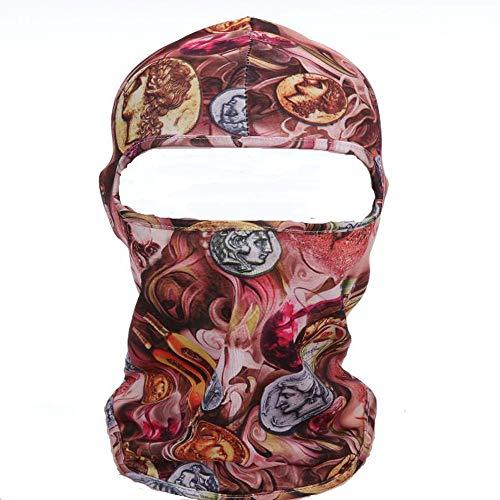 JUNSHUO Pasamontañas Balaclava Máscara Bufanda Prueba de Viento Elásticos en Tejido para Ciclismo Esqui Moto Mujere y Hombre (Una Talla) (patrón Diosa)