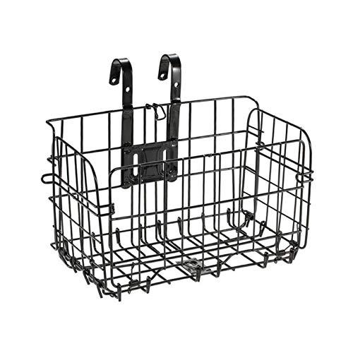 Cesta de metal desmontable, cesta de bicicleta delantera plegable, cesta de caja extraíble para la mayoría de bicicletas plegables de montaña