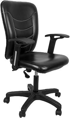 Hetal Enterprises Silk Low Back Desk Chair (Natural Finish, Black)