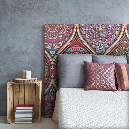 MEGADECOR Cabecero Cama PVC Decorativo Económico Diseño de Mandala Clásico Varias Medidas (150 cm x 60 cm)