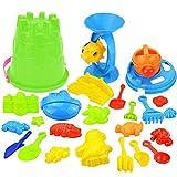 Kinder Sandspielzeug Set 25 Stück Strandspielzeug Sand und Wasser Spielzeug für Jungen und Mädchen (Wasser Spielzeug)