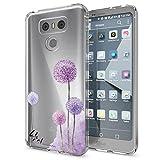 NALIA Handyhülle kompatibel mit LG G6, Motiv Design Ultra-Slim Silikon Hülle Cover, Crystal Schutzhülle Handy-Tasche Dünn, Muster Etui Backcover Hülle Smart-Phone Bumper, Designs:Dandelion Pink