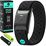 Powr Labs Bluetooth Heart Rate Monitor Armband | ANT Heart Rate Monitor Armband Heart Rate Monitor Bluetooth Wrist Heart Rate Monitor for Polar Wahoo Garmin Peloton Heart Rate Monitor Arm Band Rhythm